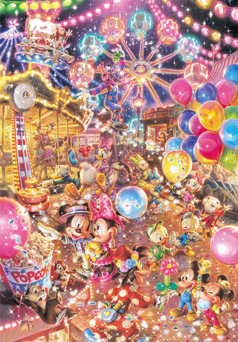 Tenyo Japan Jigsaw Puzzle DPG-500-219 Disney Twilight Park (500 S-Pieces)