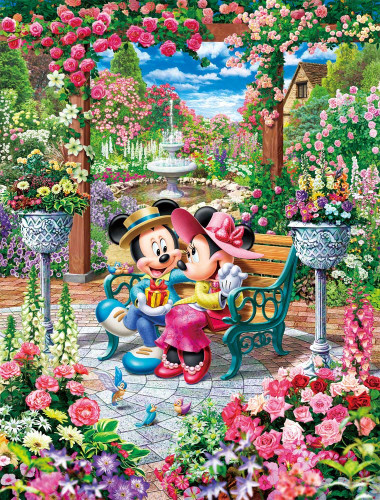 Tenyo Japan Jigsaw Puzzle DPG-500-218 Disney Royal Garden (500 S-Pieces)
