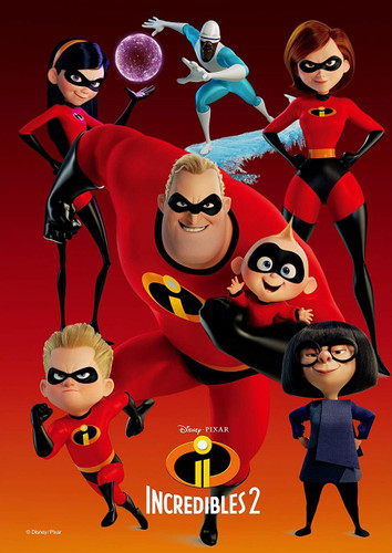 Tenyo Japan Jigsaw Puzzle D-108-814 Disney Incredibles 2 (108 Pieces)