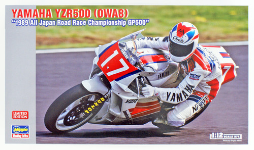 Hasegawa 21718 YAMAHA YZR500 (OWA8) '1989 All Japan Road Race Championship GP500' 1/12 scale kit
