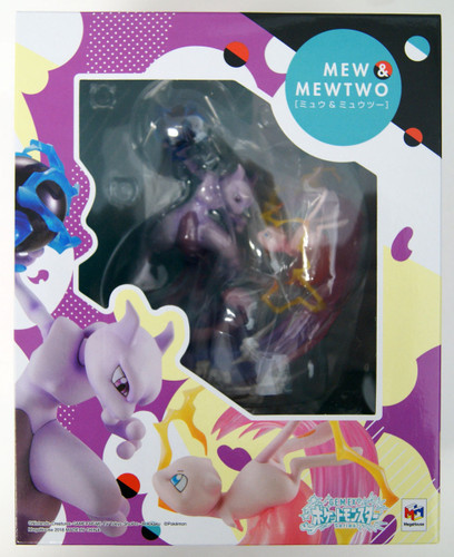 MegaHouse G.E.M. EX Series Pokemon Mew & Mewtwo Figure