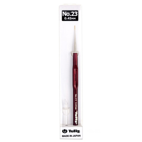Tulip T9-23 Lace Crochet Hook Sharp with Grip 0.45mm (No.23)