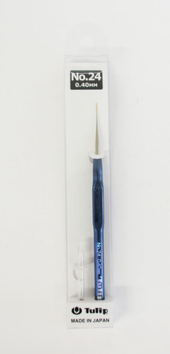 Tulip T9-24 Lace Crochet Hook Sharp with Grip 0.40mm (No.24)