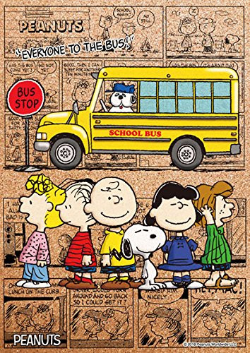 Beverly Jigsaw Puzzle 88-035 Cork Peanuts Snoopy Everyone to the Bus (88 L-Pieces)