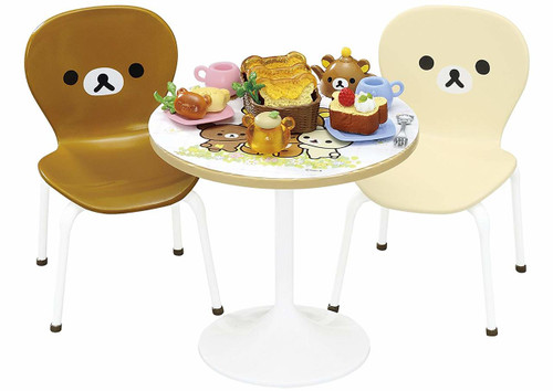 Re-ment 171142 Rilakkuma Natural Cafe Table Set