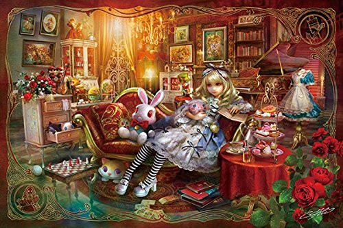 APPLEONE Jigsaw Puzzle 1000-827 SHU Alice in Wonderland Library (1000 Pieces)