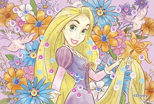Epoch Jigsaw Puzzle Decoration 70-020 Disney Tangled Rapunzel Royal Floral (70 Pieces)