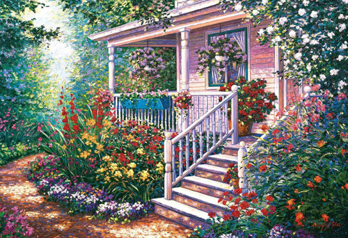 Epoch Jigsaw Puzzle 31-508 Art Schaefer-Miles Mary Ann Cottage (1053 S-Pieces)