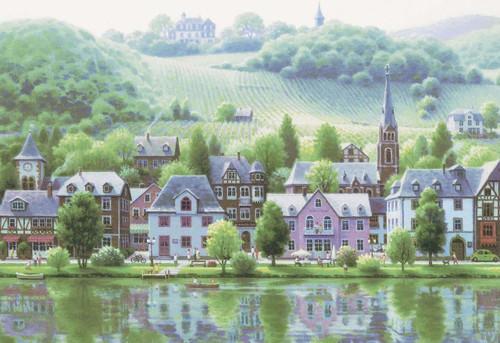Epoch Jigsaw Puzzle 28-320 Art Teppei Sasakura The Vineyard of Moselle (300 Pieces)