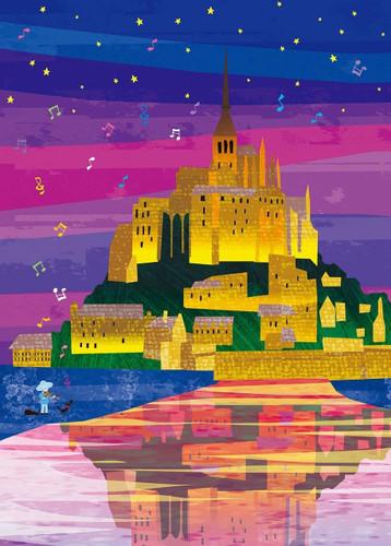 Epoch Jigsaw Puzzle 06-102 Tatsuo Hari Fairy Tale Art Mont Saint-Michel (500 Pieces)