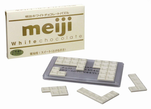 Hanayama Brain Teaser Meiji White Chocolate Puzzle Difficulty Level 1