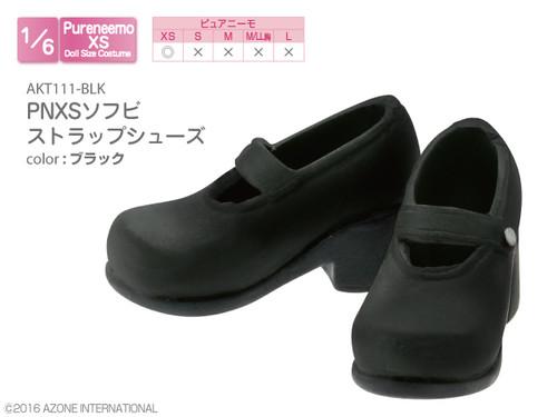 Azone AKT111-BLK Pure Neemo XS PNXS Soft Vinyl Strap Shoes Black