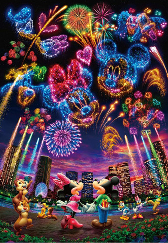 Tenyo Japan Jigsaw Puzzle D-1000-032 Disney Holography Fireworks (1000 Pieces)