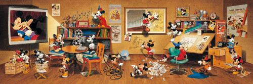 Tenyo Japan Jigsaw Puzzle DG-456-736 Disney Mickey Mouse Collection (456 Pieces)