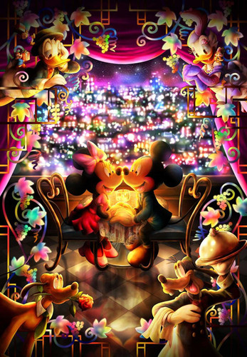 Tenyo Japan Jigsaw Puzzle DPG-500-217 Disney Mickey Minnie Special Time (500 S-Pieces)