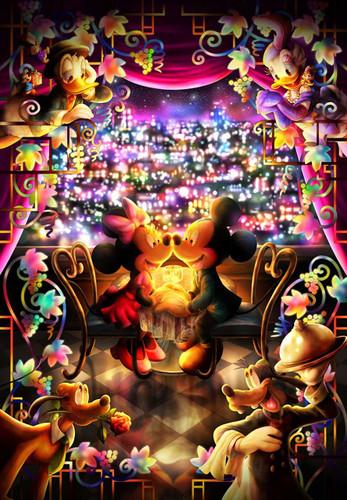 Tenyo Japan Jigsaw Puzzle DPG-500-217 Disney Mickey Minnie Special Time (500 S-Pieces)