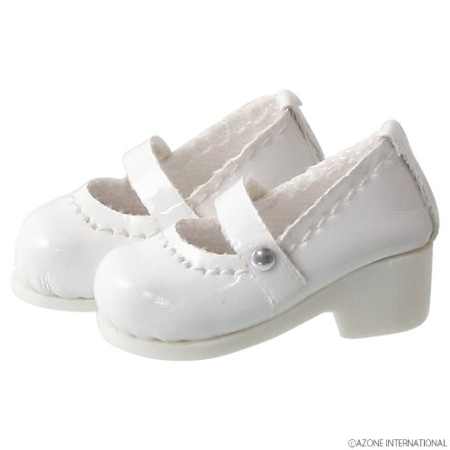 Azone PIC056-GWT 1/12 Pico D Strap Shoes Gross White