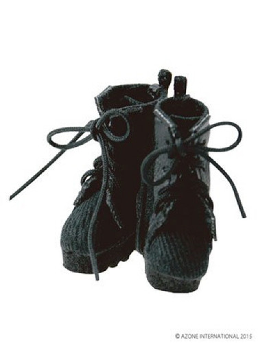 Azone PIC088-BLK 1/12 Military Combat Boots Black
