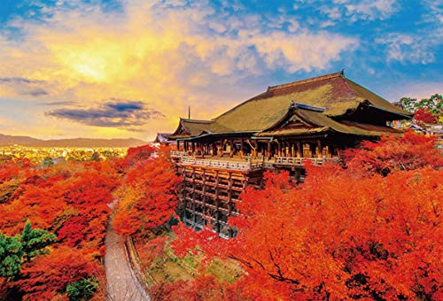 Beverly Jigsaw Puzzle 51-245 Autumn Leaves Kiyomizu-dera Temple Kyoto Japan (1000 Pieces)