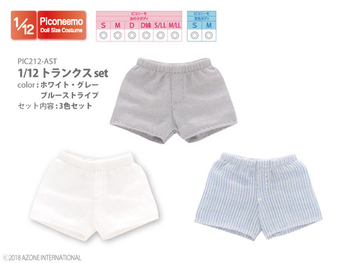 Azone PIC212-AST 1/12 Picco Neemo Boy Trunks Boxer Shorts Set