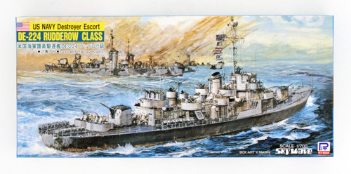 Pit-Road Skywave W-18 USN Escort Destroyer DD-224 Rudderow-class 1/700 Scale kit