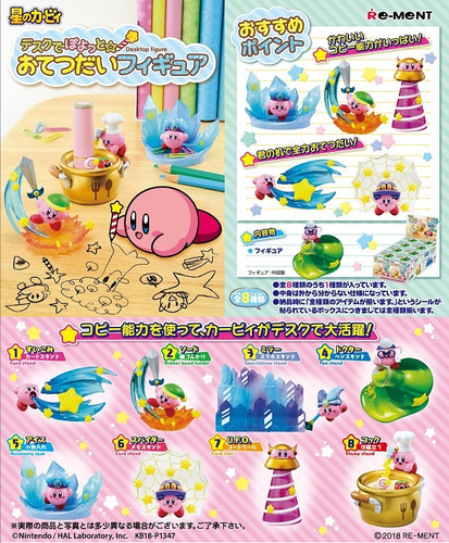 Re-ment 204437 Kirby Desk de Poyotto Figure 1 BOX 8 Figures Set