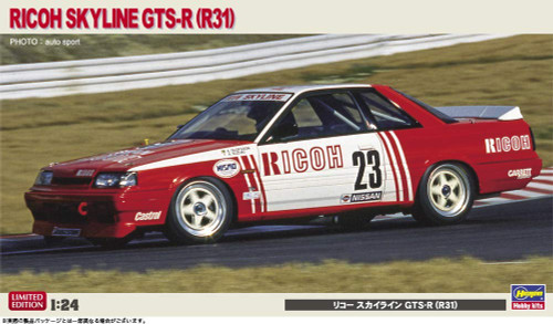 Hasegawa 20372 Ricoh Skyline GTS-R (R31) 1/24 Scale kit