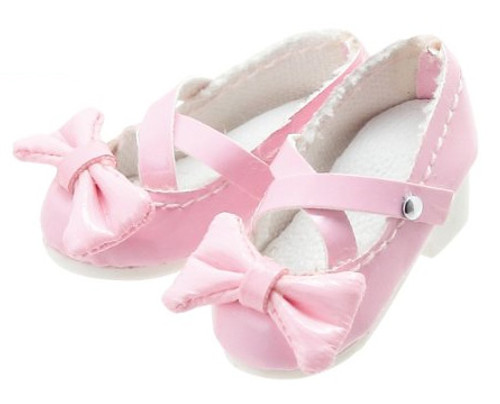 Azone AKT085-PNK Ribbon Cross Strap Shoes (Pink)