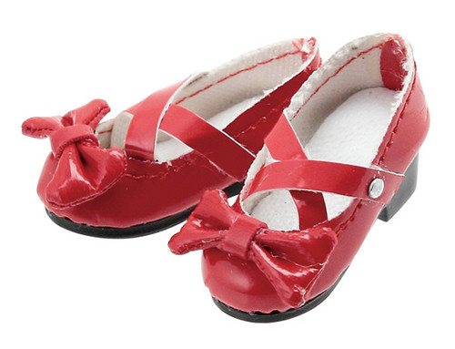 Azone AKT085-RED Ribbon Cross Strap Shoes (Red)