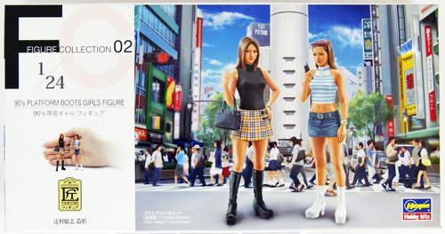 Hasegawa FC02 90's Platform Shoes Gal Figure 2 Set 1/24 Scale kit