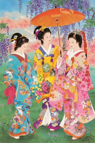 Epoch Jigsaw Puzzle 23-325 Haruyo Japanese Art Kimono (2016 S-Pieces)