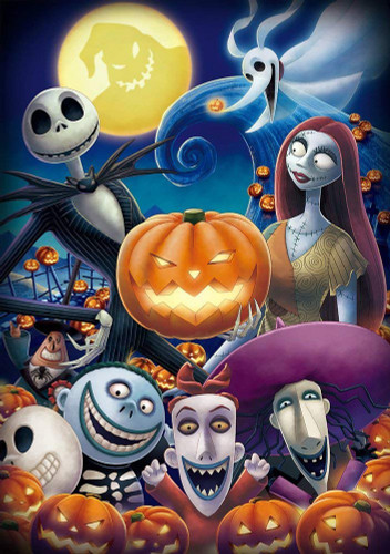 Tenyo Japan Jigsaw Puzzle D-200-903 Nightmare Before Christmas Halloween Town (200 Pieces)