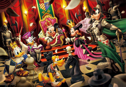 Tenyo Japan Jigsaw Puzzle D-1000-478 Disney Welcome to the World of Chess (1000 Pieces)