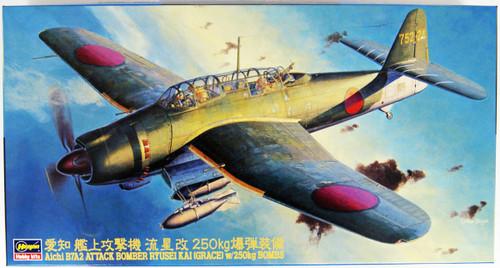 Hasegawa JT50 Aichi B7a2 Attack Bomber Ryusei Kai 250kg Bomb Equipped 1/48 Scale kit