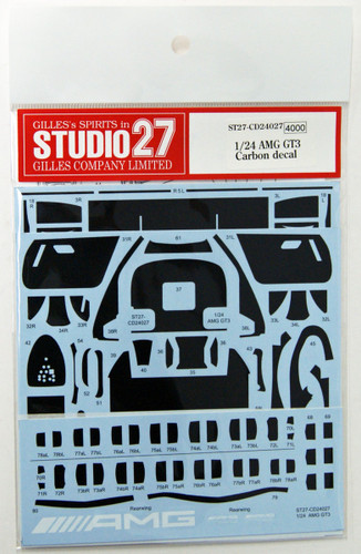 Studio27 ST27-CD24027 AMG GT3 Carbon Decal for Tamiya 1/24 Scale