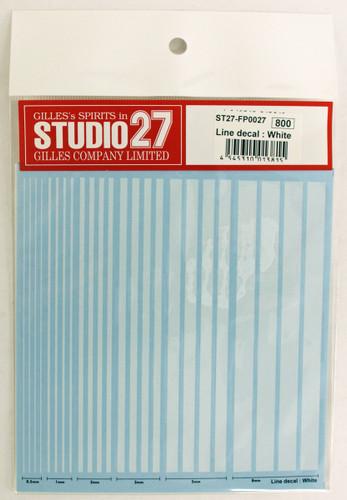 Studio27 ST27-FP0027 Line Decal : White