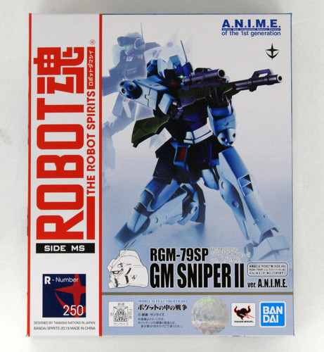 Bandai Robot Spirits Gundam 0080 RGM-79SP GM Sniper II Version A.N.I.M.E. Figure