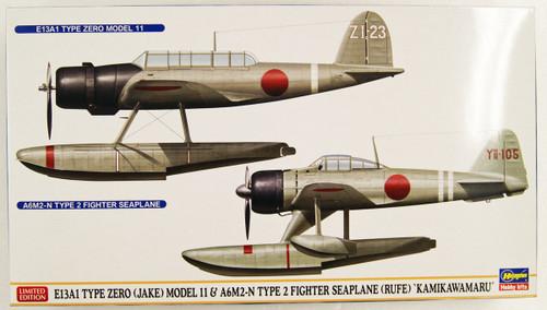 Hasegawa 02289 E13A1 Type 0 (Jake) Model 11 & A6M2-N Type 2 Fighter Seaplane (Rufe) 'Kamikawamaru' 1/72 scale kit
