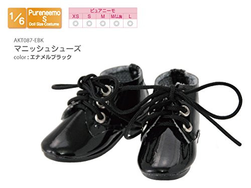 Azone AKT087-EBK 1/6 Pure Neemo S Mannish Shoes Black