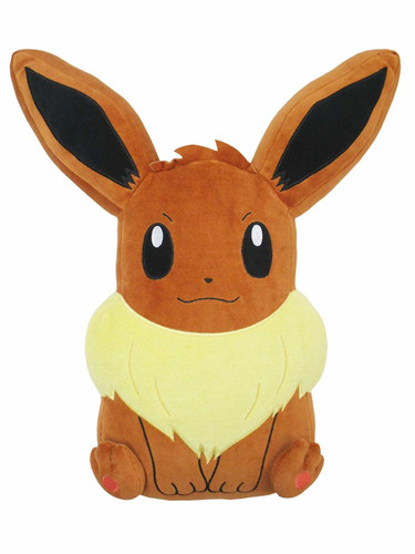 San-ei 31129 PZ18 Pokemon Mochi-Fuwa Cushion Eevee TJN