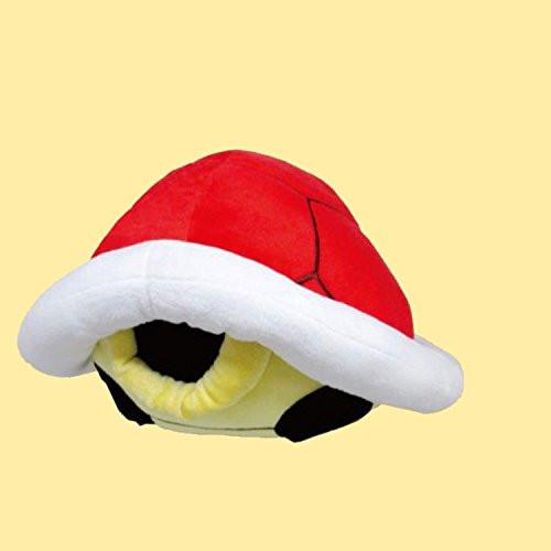 San-ei Plush Doll Super Mario Item Cushion Red Carapace TJN