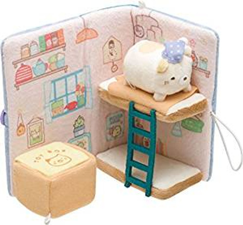 San-X Plush Doll Sumikko Gurashi Story Book With Cat TJN