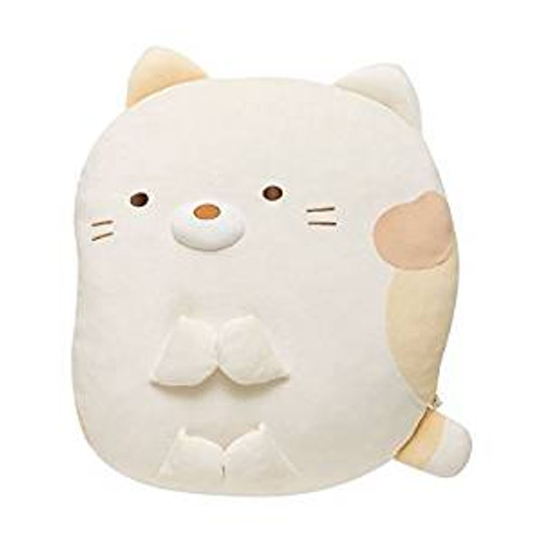 San-X Plush Doll Sumikko Gurashi Super Squishy Die Cut Coushion Cat TJN