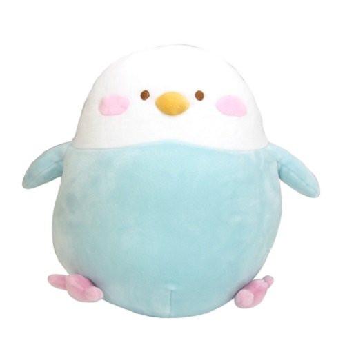Sun Lemon Plush Doll Hug Hug Mocchiri Cushion Parakeet Blue TJN