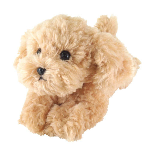 Sun Lemon Plush Doll Lap Dog Plush Hiza Wanko Toy Poodle Beige TJN