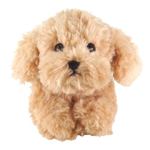 Sun Lemon Plush Doll Lap Dog Plush Hiza Wanko Toy Poodle Beige TJN