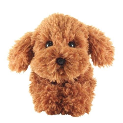 Sun Lemon Plush Doll Lap Dog Plush Hiza Wanko Toy Poodle Brown TJN