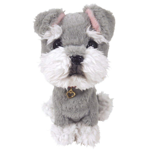 Sun Lemon Plush Doll Paps! Stuffed Dog Miniature Schnauzer Small TJN