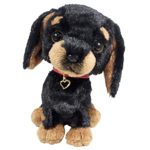 Sun Lemon Plush Doll Paps! Stuffed Plush Miniature Dachshund Black Medium TJN