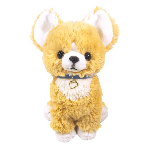 Sun Lemon Plush Doll Paps! Stuffed Toy Plush Puppy Chihuahua Beige Medium TJN